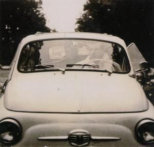 Schmied im 500er Fiat, Harxbüttel 1962